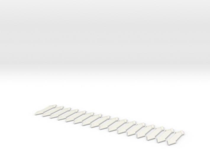 SHURIKEN 2PT LONG Solid X16 3d printed