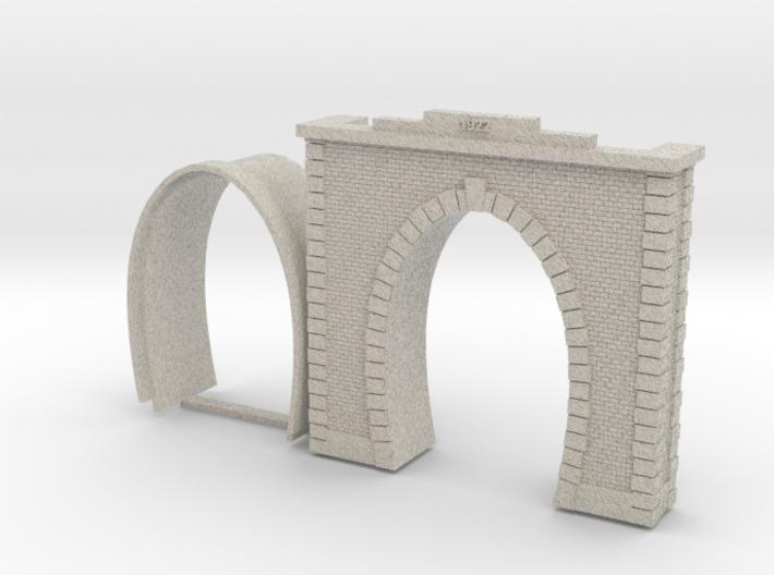 Railway tunnel portal portale galleria Italiana Ho 3d printed