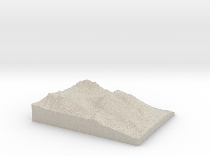 Model of Buffalo Mountain 3d printed