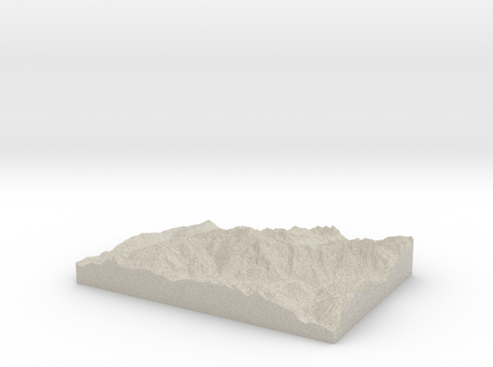 Model of Mont Blanc 3d printed