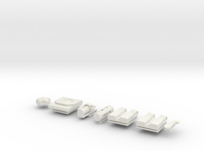 1/6 Scale Dredd Accessories 3d printed