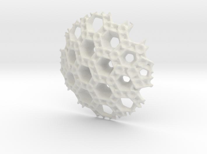 Hex Sphere Slice 3d printed