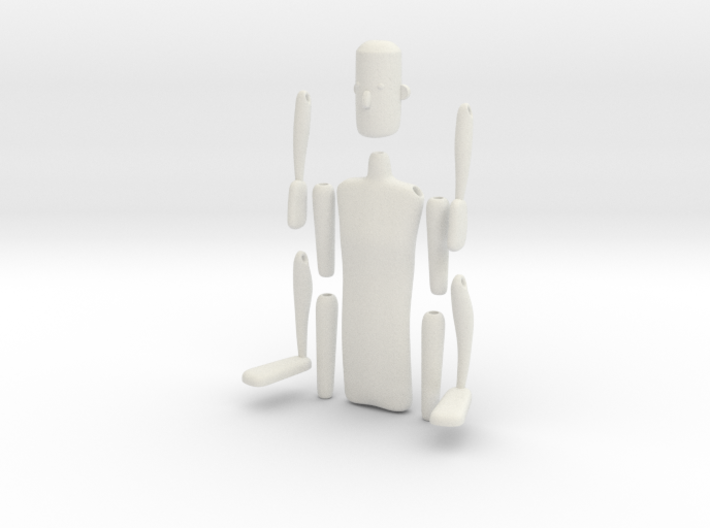 String action figure 3d printed