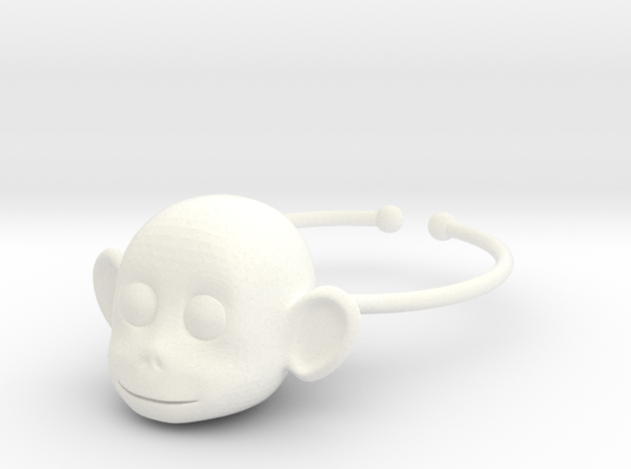 Monkey face wine glass charm 3d printed