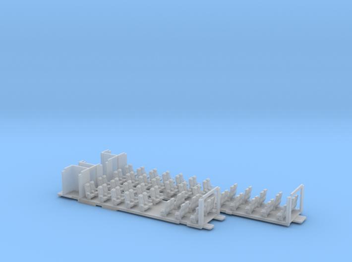 Inneneinrichtung Interex 2.Klasse FUD TT 1:120 3d printed