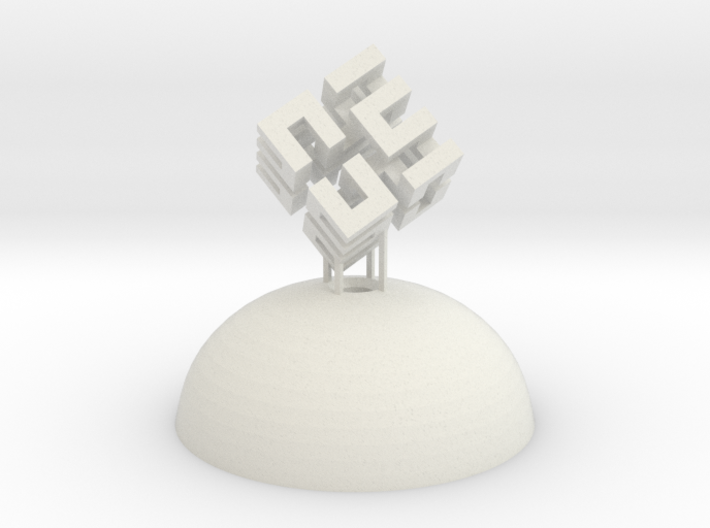 Mini Light Form - Hilbert Cube 3d printed