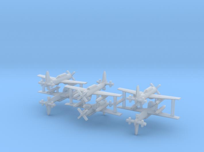 1/600 AD-4W (AEW.1) Skyraider (x6) 3d printed