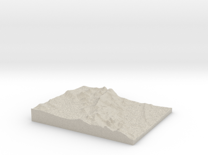 Model of Peak a boo Rock 3d printed