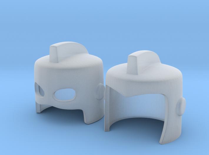 Finned Masks for Minimates V1 3d printed