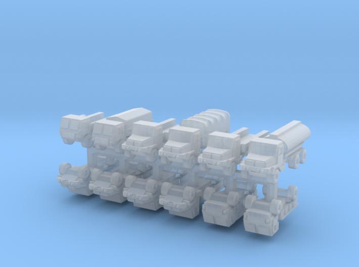 3mm SAMIL Trucks (12 Pcs) 3d printed