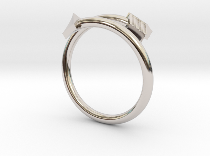 Midi Arrow Ring 3d printed