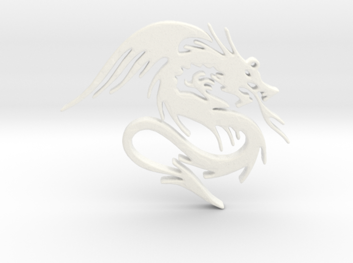 Dragon Necklace 3d printed