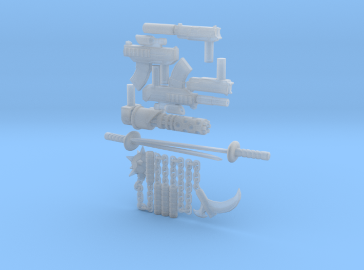 Micro Dunny All Weapons 3d printed