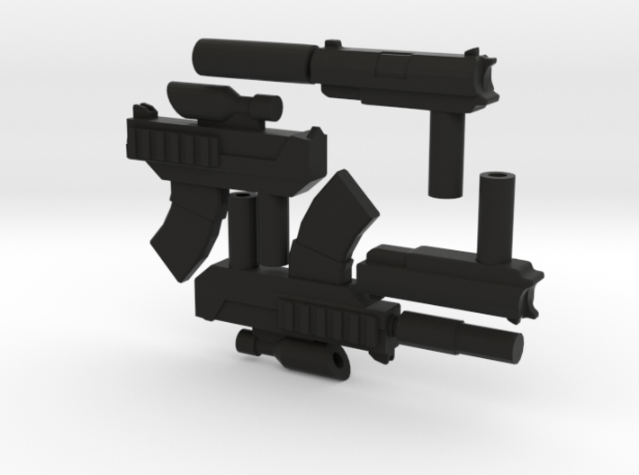 8 inch Dunny Gun Weapons 3d printed