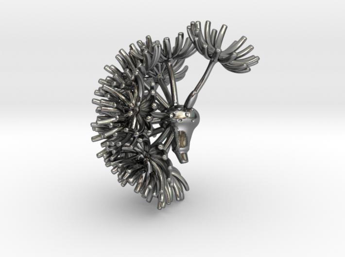 Wild wind Dandelion / part 01 - pendant 3d printed