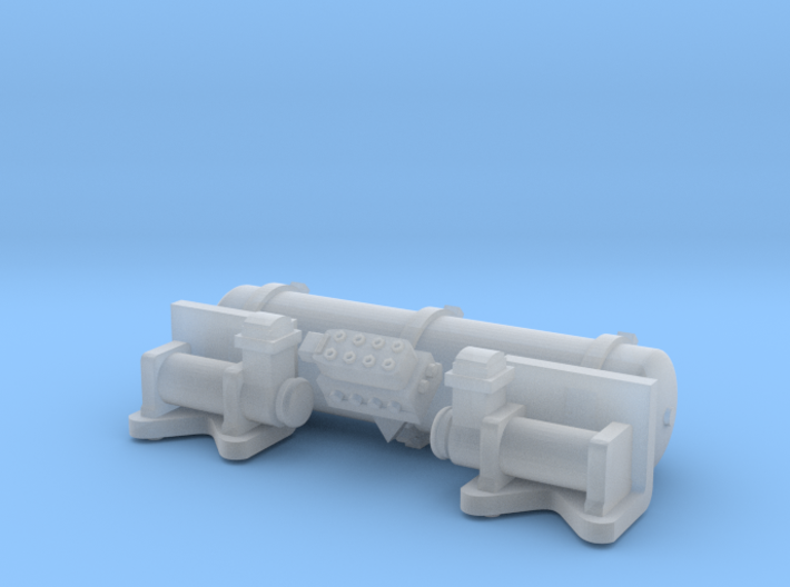 Accuair Exo Mount system for 1/24 scale model 31mm 3d printed