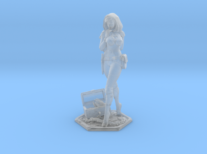 Female Thief 40mm Game Piece 3d printed