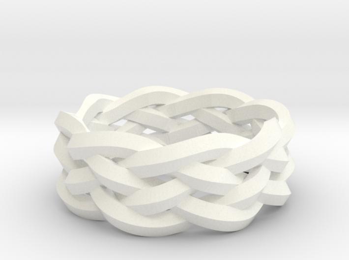 Five-Strand Braid Ring 3d printed