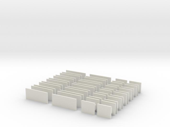 Platform Signs 4mm Scale 3d printed