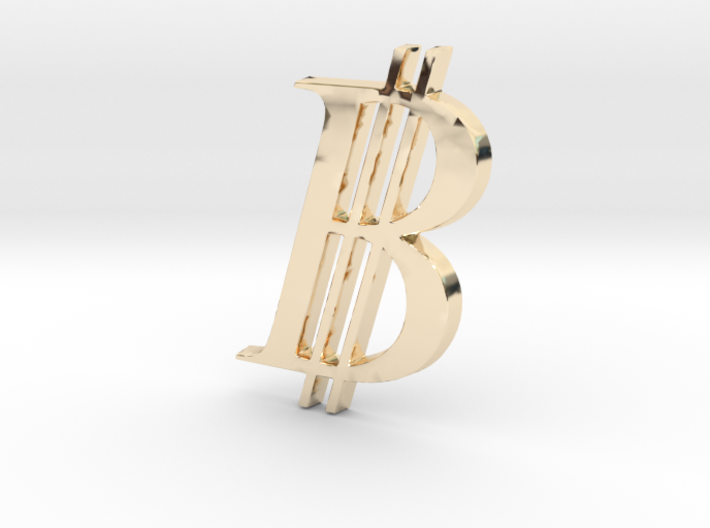 Bitcoin Logo 3D 50mm 3d printed