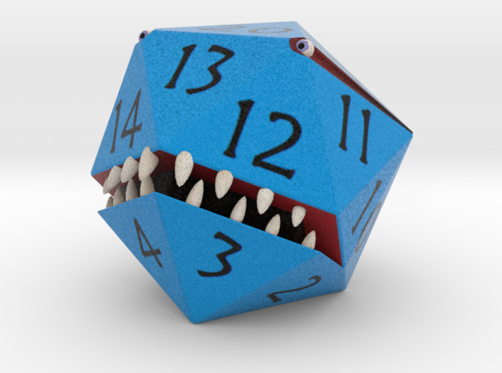 D20 Blue Monster Figurine 3d printed