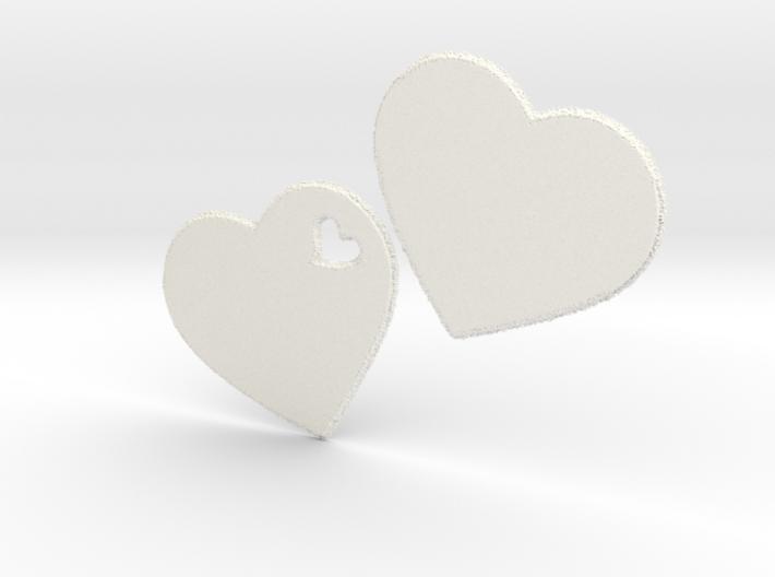 LOVE 3D Hearts 3d printed