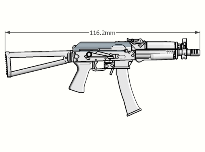 1:6 scale Russian Vityaz SMG Full Package revised  3d printed