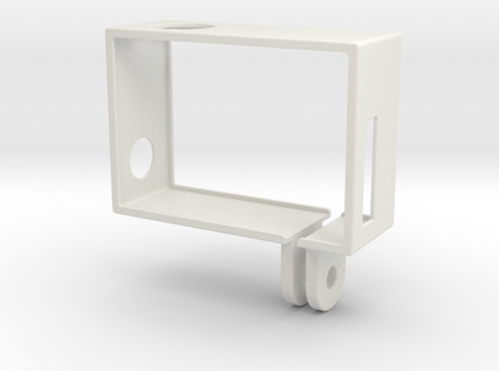 GoPro Hero3 Frame (reversed, connector at lens) 3d printed
