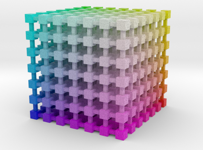 RGB Color Cube: 3.5 inch 3d printed