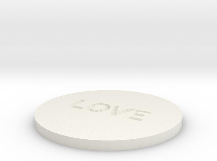 by kelecrea, engraved: LOVE 3d printed