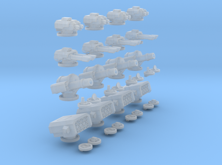 6mm Mixed Turrets 3d printed
