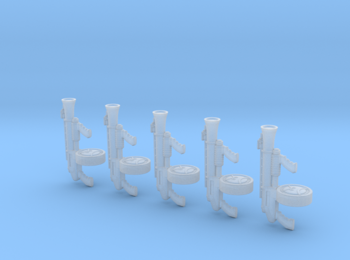 Angry Automatic Blunderbus (x5) 3d printed