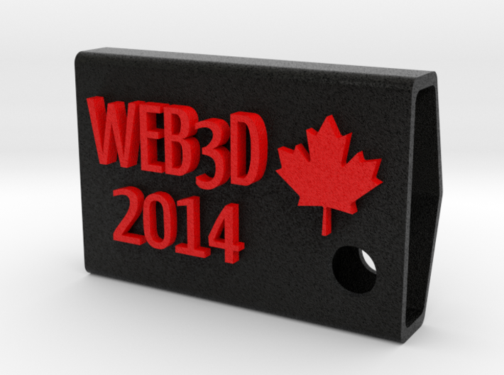 Web3D 2014 Key Fob V2 3d printed