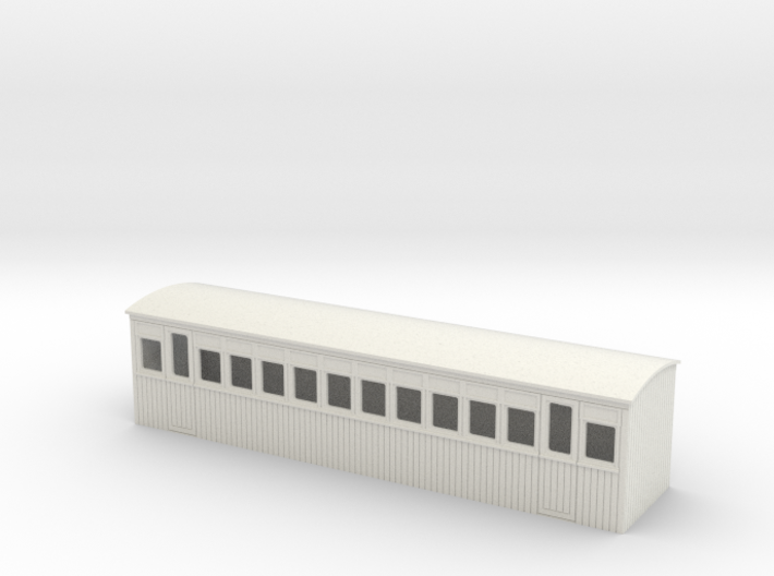 009 colonial 3rd saloon coach 3d printed
