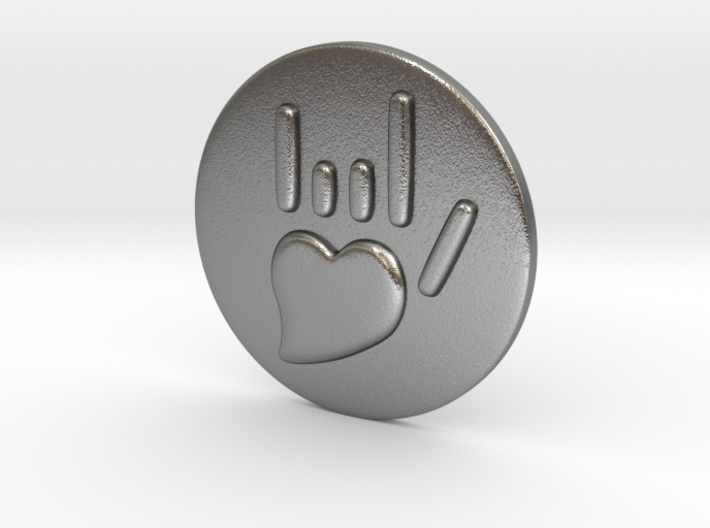Coin-L - Handsign - I love you 3d printed