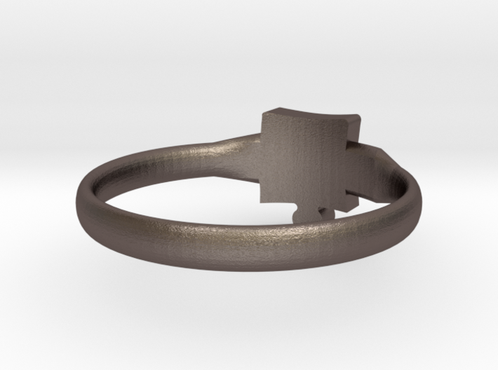 Autism Puzzle Piece Ring - Size 7.5 3d printed