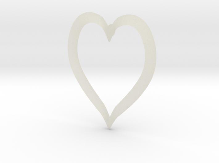 Heart Earring 3d printed