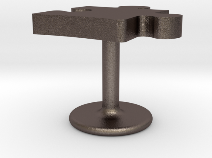 Autism Puzzle Piece Cufflink 3d printed