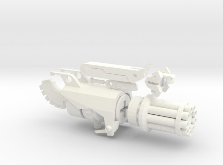 TFP Beast Hunters Optimus Gatling 3d printed