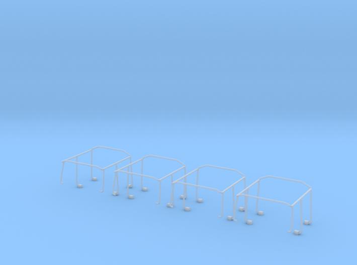 Überschlagbügel Komplett 4x für Zetrosdoppelkabine 3d printed