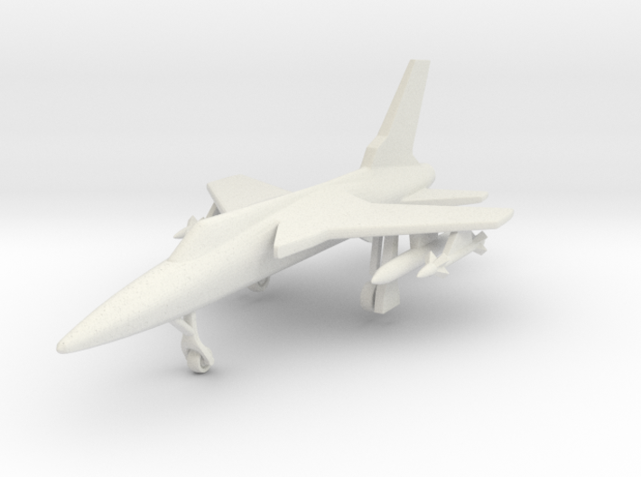 1/285 (6mm) F-105 Thunderchief 3d printed