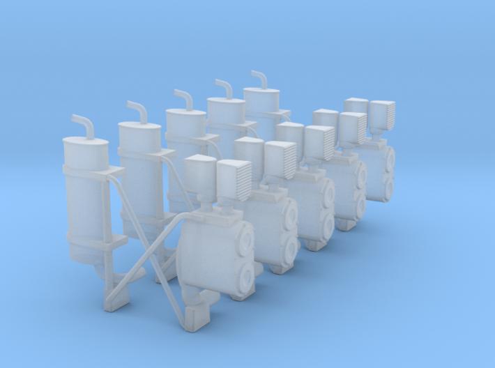 Auspuffanlage-komplett 5x 3d printed