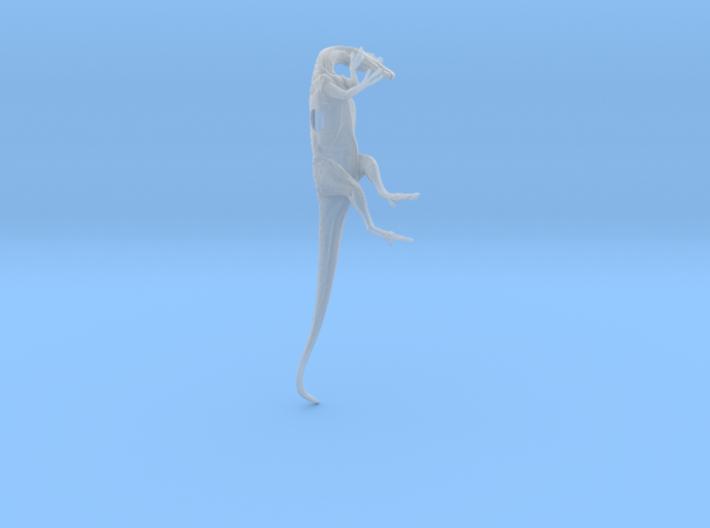 1/72 Cryolophosaurus - Laying on Side 3d printed