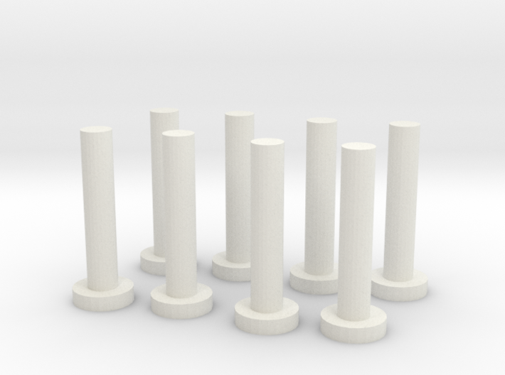 HO Scale Chilean Mill Spindles 3d printed