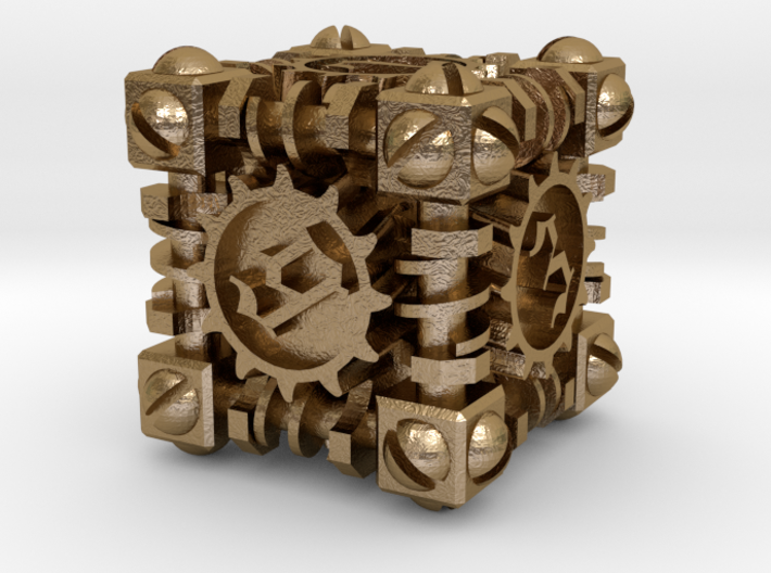 Steampunk Gaming Dice 3d printed