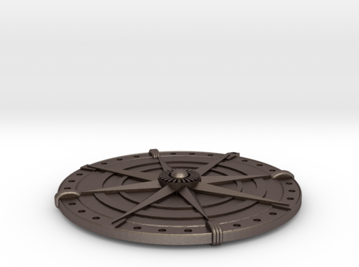 Compass Medallion 3d printed