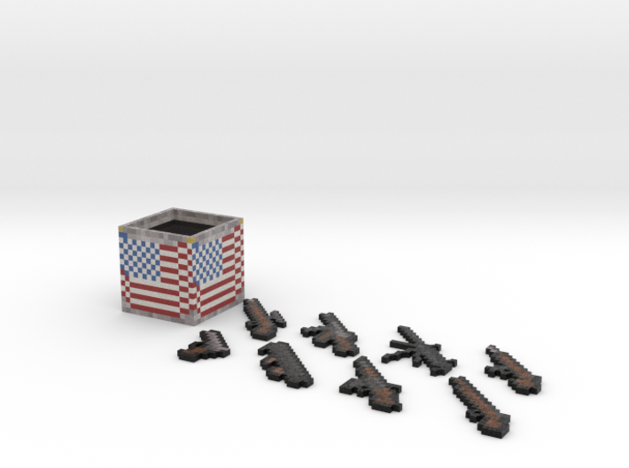 Flan's Mod American Guns and Weapon Box 3d printed