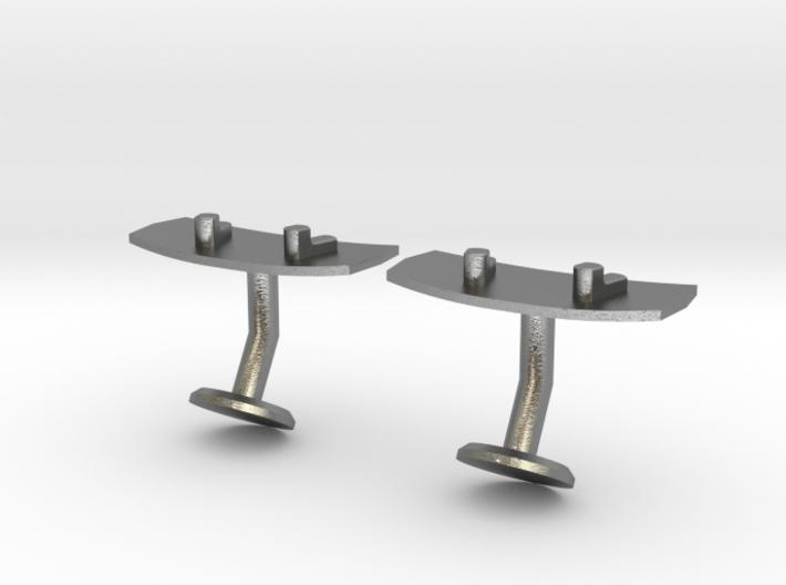 Wakeboard Cufflinks 3d printed