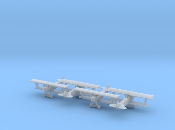 1/350 Fokker D.VII x4 3d printed