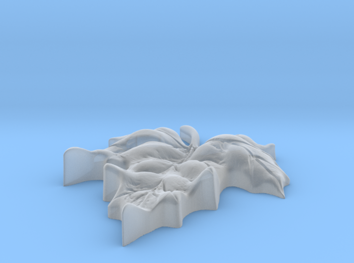 LeafMapleCurledScaled 3d printed